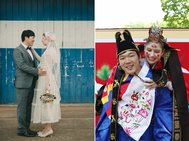 Two young people from different backgrounds got married last year twice, both in Australia and Korea (photos courtesy of My Korean Husband