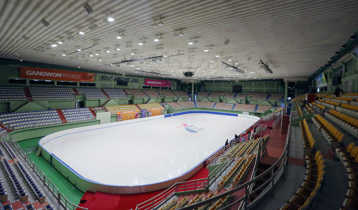 Gangneung Ice Rink will host speed skating, floor hockey, and other sports (photo by Jeon Han).
