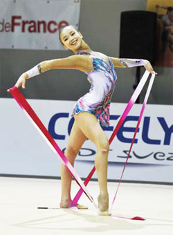Son Yeon-jae ranks 6th in ribbon at the recent World Cup at Pesaro