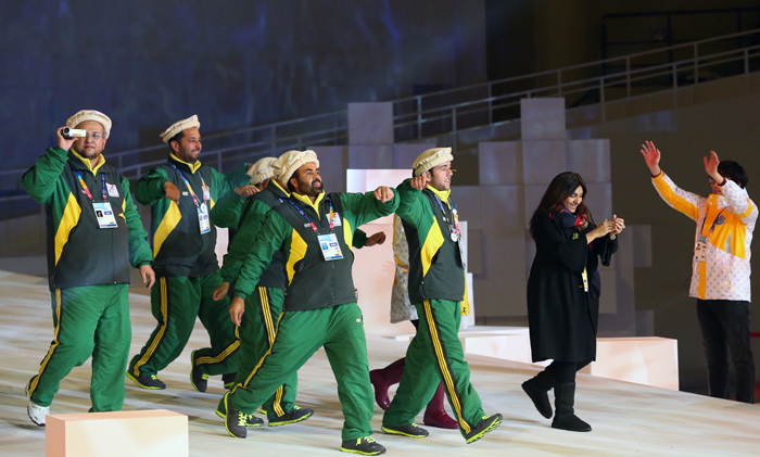 The athletes from Parkistan who were invited through the