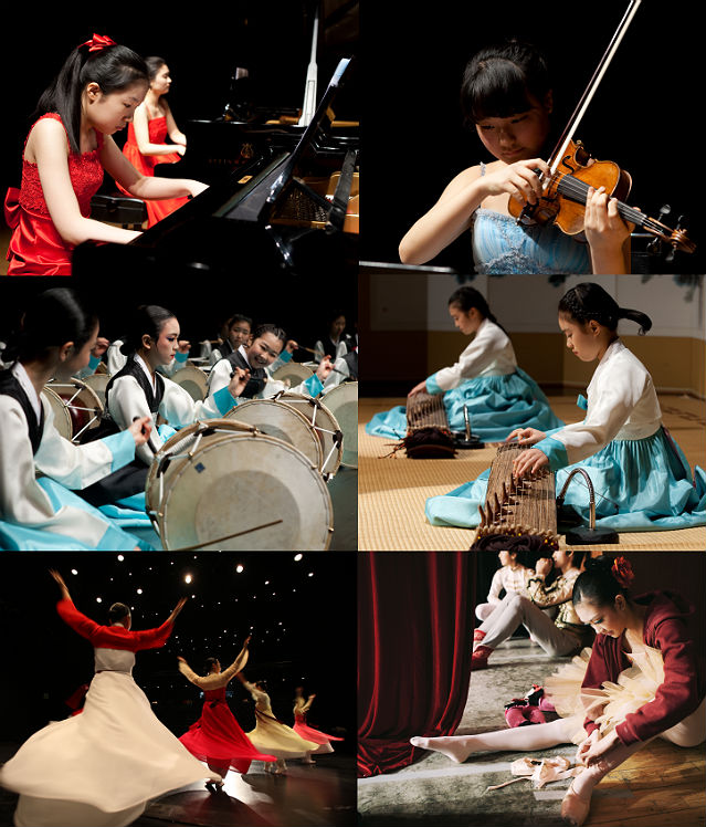 The Korean National Research Institute for the Gifted in Arts, an organ under the KNUA, was established in 2008 to cultivate a pool of gifted young artists in music, dance, and traditional arts through providing a specialized quality educational program in accordance with the Korean government's policy initiative (photo courtesy of KNUA).