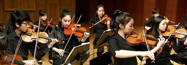 Young instrumentalists train to perfection of technical mastery and expressiveness under the guidance of master-professors of the Korea National University of Arts (KNUA), one of Korea's leading conservatories (photo courtesy of KNUA).